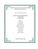 """TIỂU LUẬN MÔN KINH TẾ VĨ MÔ """"LẠM PHÁT- TĂNG TRƯỞNG KINH TẾ CỦA VIỆT NAM (CUỐI 2007-2008)"""""""