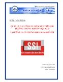 """Đồ án cơ sở dữ liệu """"Quản lý các công ty niêm yết tại công ty CP chứng khoán Sài Gòn - SSI"""""""