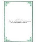 Tiểu luận về 'Học thuyết hình thái kinh tế - xã hội với sự nghiệp công nghiệp hoá - hiện đại hoá ở Việt Nam'.