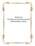 Tiểu luận về 'Vai trò kinh tế của nhà nước trong nền KTTT định hướng XHCN ở Việt Nam'.
