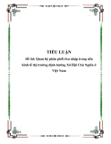 Tiểu luận về 'Quan hệ phân phối thu nhập trong nền kinh tế thị trường định hướng Xã Hội Chủ Nghĩa ở Việt Nam'