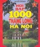 Câu hỏi cuộc thi tìm hiểu 1000 năm Thăng Long - Hà Nội