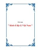 """Tiểu Luận """" Kinh tế địa lý Việt Nam """""""