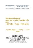 Chiến lược Phát triển lâm nghiệp Việt Nam giai đoạn 2006 - 2020