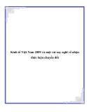 """Đề tài """"Kinh tế Việt Nam 2009 và một vài suy nghĩ về nhận thức luận chuyển đổi """""""