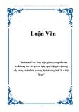 """Tiểu luận đề tài """"Quy luật giá trị trong nền sản xuất hàng hoá và sự vận dụng quy luật giá trị trong xây dựng kinh tế thị trường định hướng XHCN ở Việt Nam"""""""