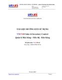 Tài liệu Hướng dẫn sử dụng: VNUNi® SIC – Quản lý Bán hàng - Siêu thị - Kho hàng