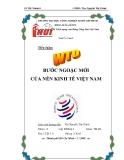 """Tiểu luận """" WTO bước ngoặc mới nền kinh tế Việt Nam """""""