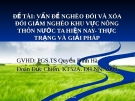 """Tiểu luận đề tài """"Vấn đề nghèo đói và chính sách xóa đói giảm nghèo của Việt Nam hiện nay"""""""