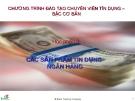 Các sản phẩm tín dụng ngân hàng