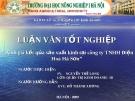 """Đề tài """"Đánh giá kết qủa sản xuất kinh doanh tại công ty TNHH Điện Hoá Hà Sơn"""""""