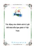 Tác động của chính sách tỷ giá hối đoái đến lạm phát ở Việt Nam