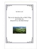 """Dự án""""Dự án xây dựng khu dân cư Bình Thắng tại xã Bình An, Huyện Dĩ An, tỉnh Bình Dương"""