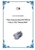 """Báo cáo thực tập """"Thực trạng áp dụng ISO 9000 tại Công ty Giầy Thượng Đình"""""""