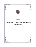 A PRACTICAL ENGLISH GRAMMAR EXERCISES