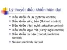 Bài giảng; Lý thuyết điều khiển hiện đại