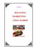 Bài giảng Marketing công nghiệp - Nguyễn Thị Thái Hà