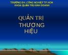 Quản trị thương hiệu - Lê Cao Thanh