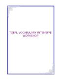 TOEFL VOCABULARY INTENSIVE WORKSHOP