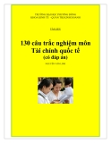 130 Câu trắc nghiệm môn tài chính quốc tế (có đáp án) - Nguyễn Văn Linh