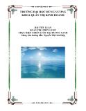 Tiểu luận: Quản trị chiến lược thực hiện chiến lược Đại Dương Xanh