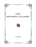 TÀI LIỆU HTML, DHTML VÀ JAVASCRIPT