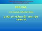 Đồ án: Phân tích thiết kế hệ thống quản lý phần mềm của một công ty '