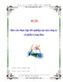 Báo cáo thực tập tốt nghiệp tại của công ty cổ phần Long Bảo
