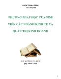 Đề tài về 'PHƯƠNG PHÁP HỌC CỦA SINH VIÊN CÁC NGÀNH KINH TẾ VÀ QUẢN TRỊ KINH DOANH'