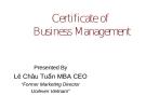 Tài liệu MBA - Quản trị kinh doanh