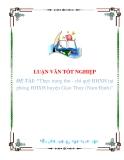 """Luận văn """"""""Thực trạng thu - chi quỹ BHXH tại phòng BHXH huyện Giao Thuỷ (Nam Định)"""""""""""