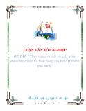 """Luận văn """"Thực trạng và một số giải  pháp nhằm thực hiện tốt hoạt động của BHXH thành phố Vinh"""""""