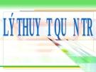 Bài giảng Tâm lý quản lý  lý thuyết quản trị
