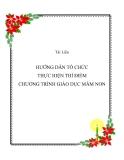 HƯỚNG DẪN  TỔ CHỨC THỰC HIỆN THÍ ĐIỂM  CHƯƠNG TRÌNH GIÁO DỤC MẦM NON