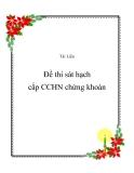 Đề thi sát hạch cấp CCHN chứng khoán