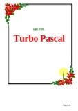 Giáo trình Turbo Pascal
