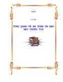 CHƯƠNG 1: TỔNG QUAN AN TOÀN VÀ BẢO MẬT THÔNG TIN