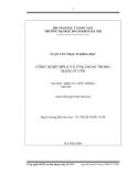 Luận văn thạc sĩ khoa học: Công nghệ MPLS và ứng dụng trong mạng IP VPN