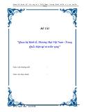 Luận văn :  Quan hệ Kinh tế, Thương Mại Việt Nam - Trung Quốc hiện tại và triển vọng