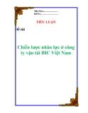"""Tiểu luận:  """" Chiến lược nhân lực ở công ty vận tải BIC Việt Nam  """""""