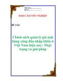 """Luận văn:  """"Chính sách quản lý giá mặt hàng xăng dầu nhập khẩu ở Việt Nam hiện nay: Thực trạng và giải pháp"""""""