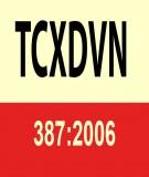 Tiêu chuẩn xây dựng Việt Nam TCXDVN 387:2006