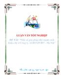 """Luận văn """"Một số giải pháp đẩy mạnh xuất khẩu chè ở Công ty AGREXPORT - Hà Nội"""""""