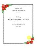Hệ thống nông nghiệp - Nguyễn Viết Tuân