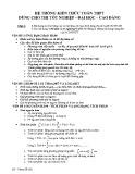 Các công thức toán 12 (Ôn thi TN + TSĐH)