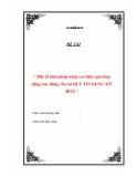 """Luận văn """"Một số biện pháp nâng cao hiệu quả hoạt động huy động vốn tại QUỸ TÍN DỤNG MỸ HOÀ"""""""