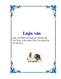 Luận văn về Phân tích hợp tác thương mại Việt Nam- Liên minh Châu Âu trong lĩnh vực dệt may.
