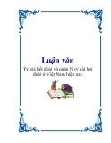 """Luận văn """"Tỷ giá hối đoái và quản lý tỷ giá hối đoái ở Việt Nam hiện nay"""""""