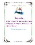"""Luận văn """"Một số giải pháp tạo vốn và nâng cao hiệu quả sử dụng vốn cho các DNNN ở Việt Nam hiện nay"""""""