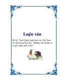 """Luận văn """"Xuất khẩu hàng hoá của Việt Nam vào thị trường Hoa Kỳ - Những vấn đề đặt ra và giải pháp phát triển"""""""